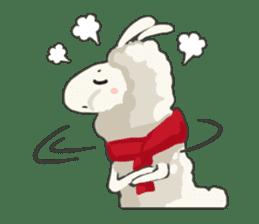 Llama in Love: Happy Valentine sticker #2913659