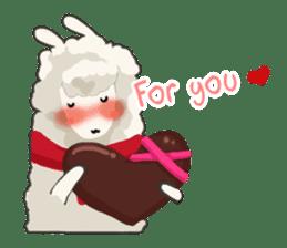Llama in Love: Happy Valentine sticker #2913661