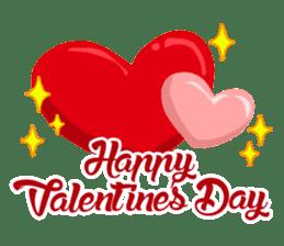 Llama in Love: Happy Valentine sticker #2913666