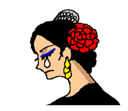 The flamenco stickers of passion sticker #2918389