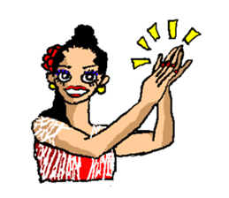 The flamenco stickers of passion sticker #2918400