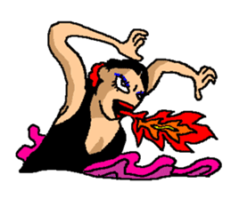 The flamenco stickers of passion sticker #2918411