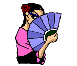 The flamenco stickers of passion sticker #2918416