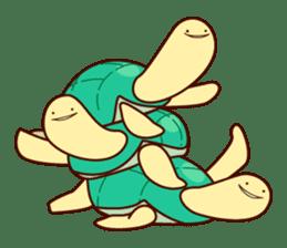Smiling turtle sticker #2938954