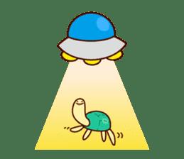 Smiling turtle sticker #2938955