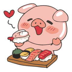 lovely pig's daily life