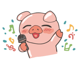 lovely pig's daily life sticker #2940843