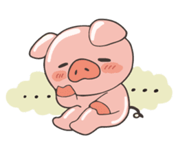 lovely pig's daily life sticker #2940844