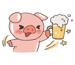 lovely pig's daily life sticker #2940845