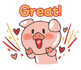 lovely pig's daily life sticker #2940846