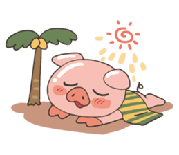 lovely pig's daily life sticker #2940849