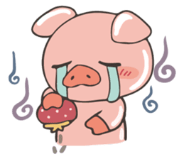 lovely pig's daily life sticker #2940850
