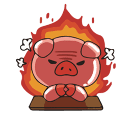 lovely pig's daily life sticker #2940851