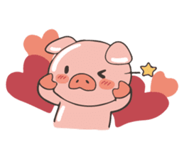 lovely pig's daily life sticker #2940854