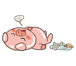 lovely pig's daily life sticker #2940855