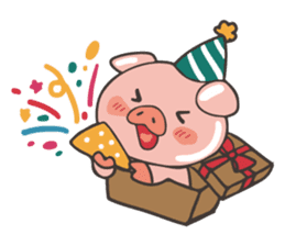 lovely pig's daily life sticker #2940857