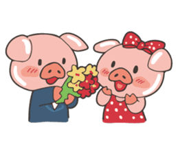 lovely pig's daily life sticker #2940859