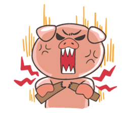 lovely pig's daily life sticker #2940861