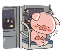 lovely pig's daily life sticker #2940862
