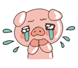lovely pig's daily life sticker #2940863