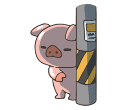 lovely pig's daily life sticker #2940865