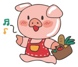lovely pig's daily life sticker #2940866