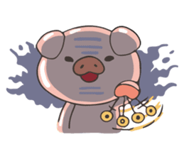 lovely pig's daily life sticker #2940868