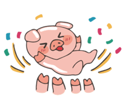 lovely pig's daily life sticker #2940871
