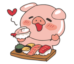 lovely pig's daily life sticker #2940873