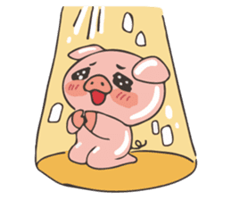 lovely pig's daily life sticker #2940874