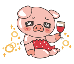 lovely pig's daily life sticker #2940876