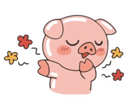 lovely pig's daily life sticker #2940877