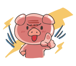 lovely pig's daily life sticker #2940878