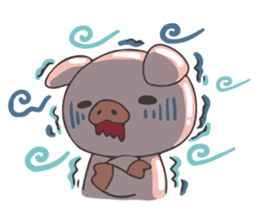 lovely pig's daily life sticker #2940880
