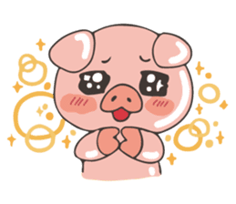 lovely pig's daily life sticker #2940881