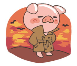 lovely pig's daily life sticker #2940882