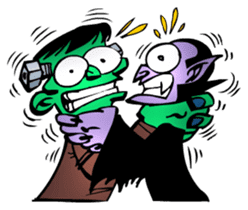 WanMonstaz - Your Cartoon Spooks sticker #2947730