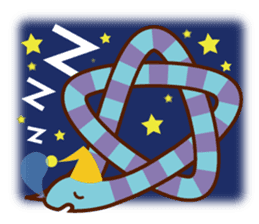 Knotted snakes sticker #2964197