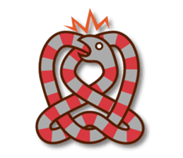 Knotted snakes sticker #2964199
