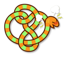 Knotted snakes sticker #2964201