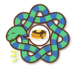 Knotted snakes sticker #2964202