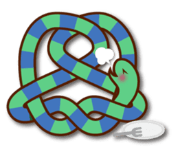 Knotted snakes sticker #2964203