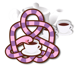 Knotted snakes sticker #2964210