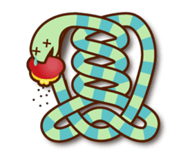 Knotted snakes sticker #2964211