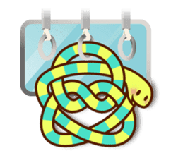 Knotted snakes sticker #2964213