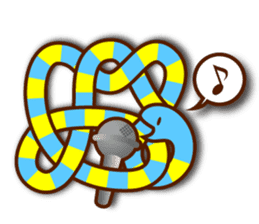 Knotted snakes sticker #2964216
