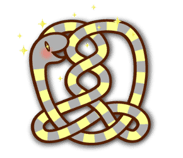 Knotted snakes sticker #2964219