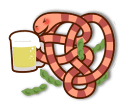 Knotted snakes sticker #2964220