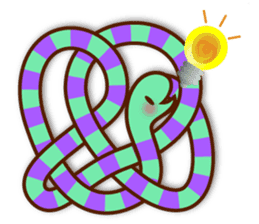 Knotted snakes sticker #2964222