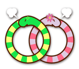 Knotted snakes sticker #2964233